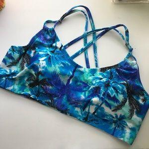 🌴Palm Print Bikini Top